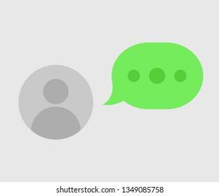 Chatting icon, symbol, web, app. Whatsapp element ui. Vector illustration. EPS 10.