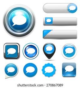 chatting icon /talk bubble  button