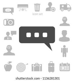 chatting icon. vector illustration