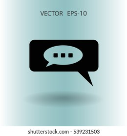 chatting icon. vector illustration
