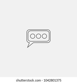 chatting line vector icon
