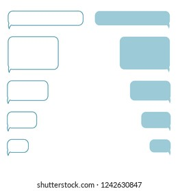 Chatting vector illustration in flat style. Speech bubbles for messaging app