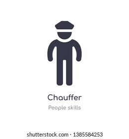chauffer outline icon. isolated line vector illustration from people skills collection. editable thin stroke chauffer icon on white background