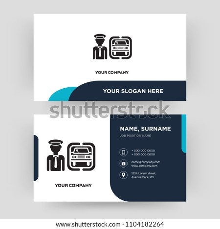 Chauffeur business card design template visiting stock vector chauffeur business card design template visiting for your company modern creative and clean colourmoves