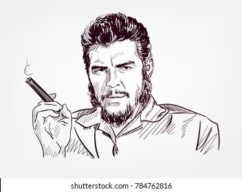 che guevara vector illustration sketch