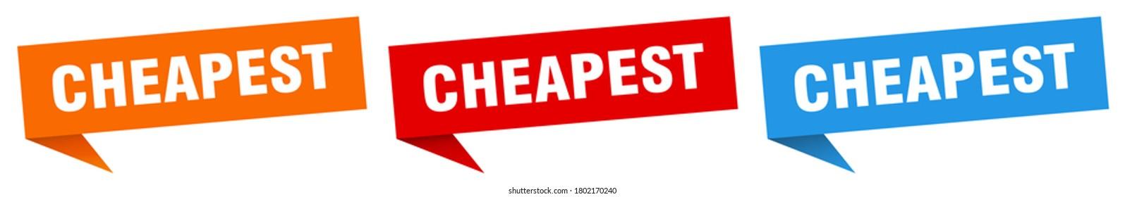 cheapest banner. cheapest speech bubble label set