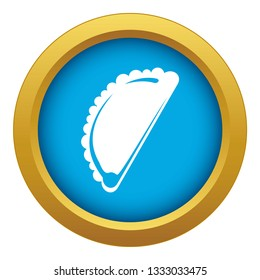 Cheburek icon blue vector isolated on white background for any design