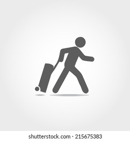 check in airport icon on white background