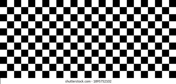 Check board background. Black and White checkered. flag for racing. vector flat illustration.