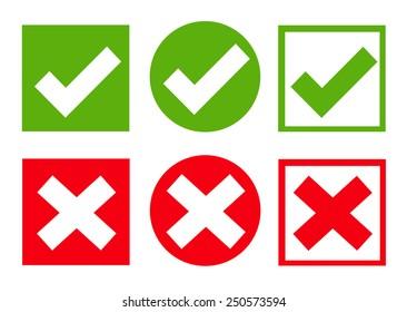 Check box icon set. Vector illustration