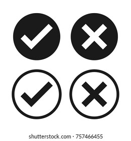 Check box list icons set, black isolated on white background, vector illustration.