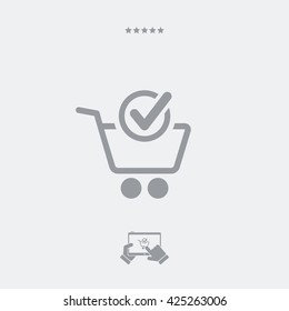 Check cart flat icon