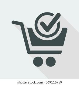 Check cart flat icon