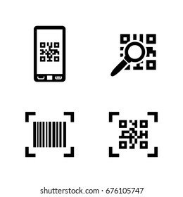 Check code. Simple Related Vector Icons Set for Video, Mobile Apps, Web Sites, Print Projects and Your Design. Black Flat Illustration on White Background.