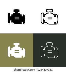 Check Engine Light Icon Set