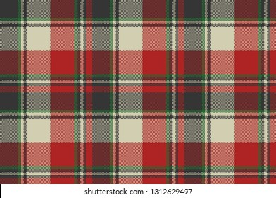 Check fabric texture pixel seamless pattern. Vector illustration.