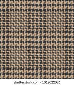 Check fashion tweed beige and grey seamless pattern for fashion textile prints, wallpaper, wrapping, fabric imitation and backgrounds.