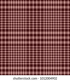 Check fashion tweed burgundy and pink seamless pattern for fashion textile prints, wallpaper, wrapping, fabric imitation and backgrounds.