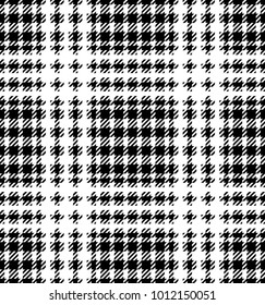 Check fashion tweed white and black seamless pattern for fashion textile prints, wallpaper, wrapping, fabric imitation and backgrounds.