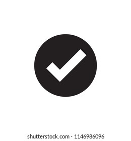 Check icon. Checkmark vector. Approved symbol. Ok icon. Check button sign. Tick icon. Checkpoint. Best modern flat pictogram illustration sign for web and mobile apps design