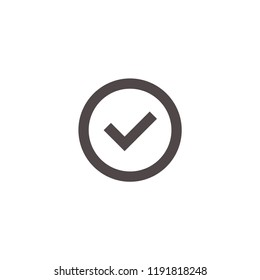 Check icon. Checkmark vector. Approved symbol. Ok icon. Check button sign. Tick icon. Checkpoint. Linear style sign for mobile concept and web design. Check  symbol logo illustration. vector graph