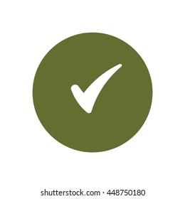 Check  icon. Flat design.