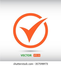 check  icon. One of set web icons