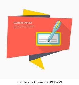 Check icon, vector illustration. Flat design style with long shadow,eps10