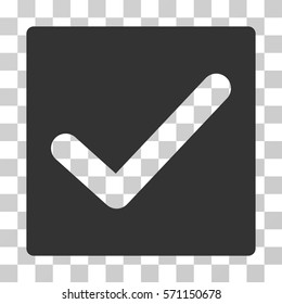Check icon. Vector illustration style is flat iconic symbol, gray color, transparent background. Designed for web and software interfaces.