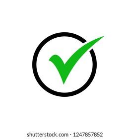 check icon vector. check mark icon. check list button icon.