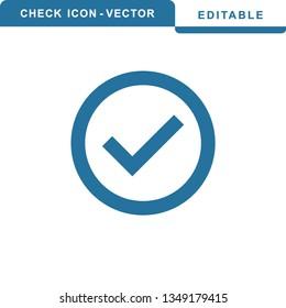 check icon vector. check mark icon. check list button icon -  Vector