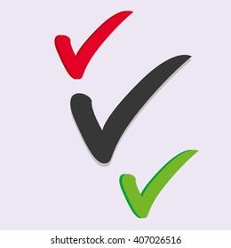 Check icon Vector set