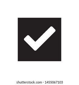 Check icon, yes icon approved vector illustration.