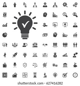 Check innovative idea icon. vector illustration on white background. Business set of icons