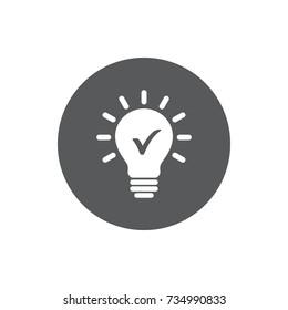 Check innovative idea icon. vector illustration on white background.