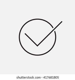 Check line icon, outline vector logo illustration, linear pictogram isolated on white