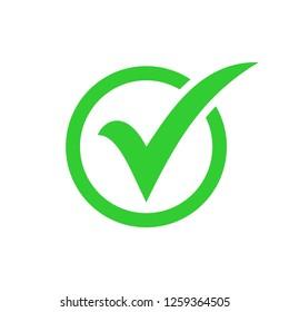 check list button icon. check icon vector. check mark icon