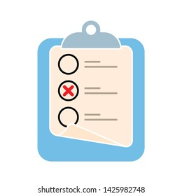 check list icon. flat illustration of check list vector icon for web