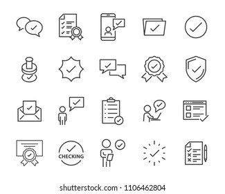 check list icon set, stamp icon, approval related