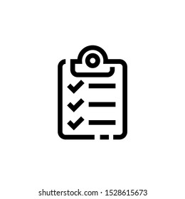 Check list icon template color editable,  Check list icon vector sign isolated on white background illustration for graphic and web design