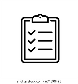 Check list icon in trendy flat style isolated on background. Check list icon page symbol for your web site design Check list icon logo, app, UI. Check list icon Vector illustration, EPS10.