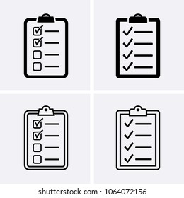 Check List Icon. Vector set