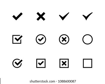 Check List vector icons flat set