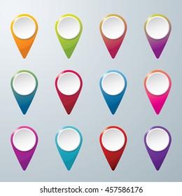 Check in location icon. Location concept design. icon vector. Colorful check in location vector.