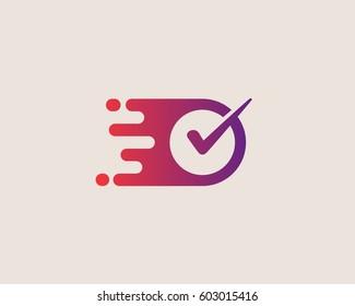 Check logotype. Right vector logo design.