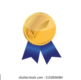 check mark award stamp illustration isolated over a white background