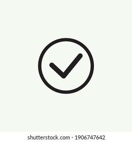 Check mark black line icons. Vector illustration. - Vector