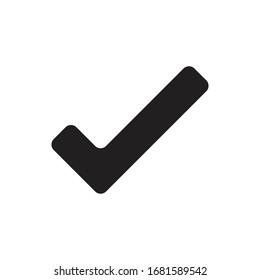 check mark bold icon vector design