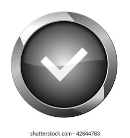 Check mark button. vector