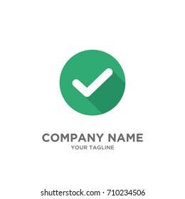 check mark , checklist design logo template